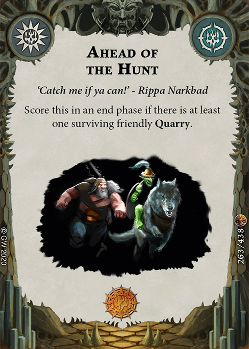 Ahead of the Hunt card image - hover