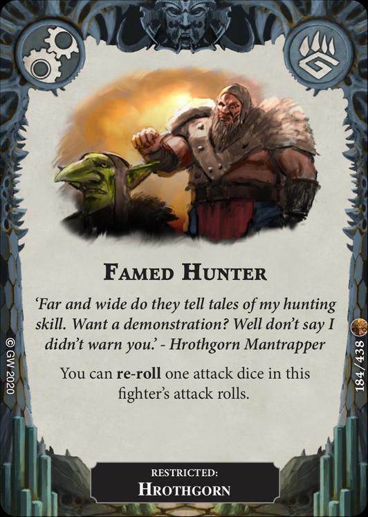 Famed Hunter card image - hover