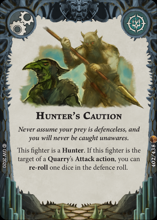 Hunter's Caution card image - hover