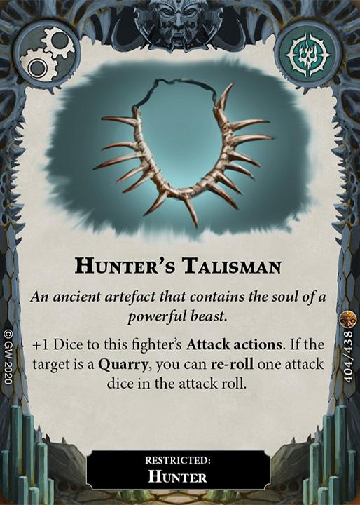 Hunter's Talisman card image - hover