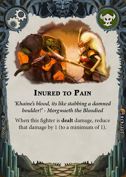 Inured to Pain card image - hover