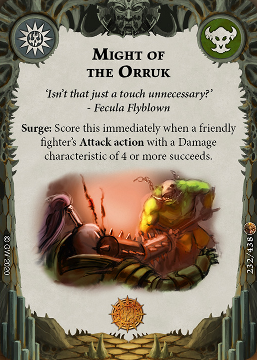 Might of the Orruk card image - hover