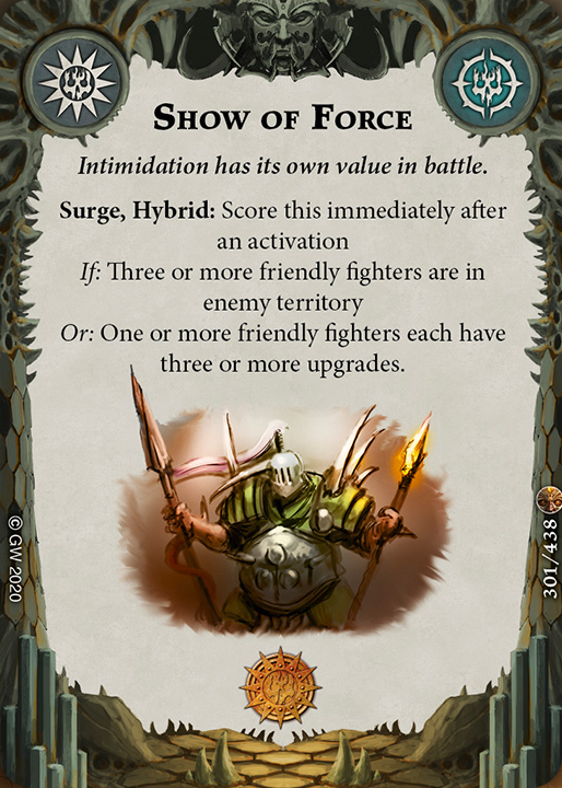 Show of Force card image - hover
