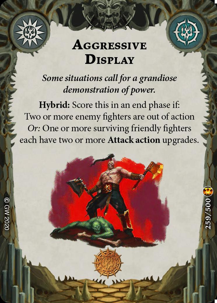 Aggressive Display card image - hover