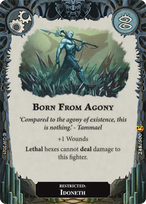 Born From Agony card image - hover