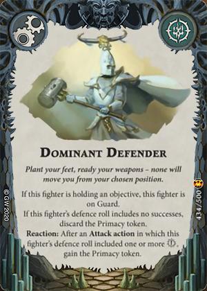 Dominant Defender card image - hover