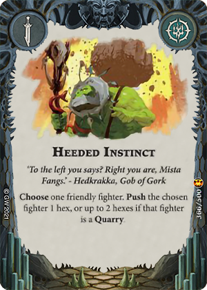 Heeded instinct card image - hover