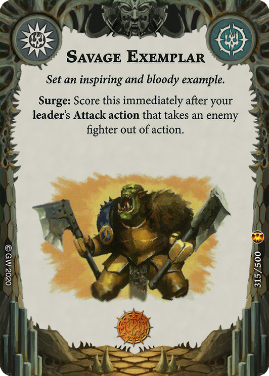 Savage Exemplar card image - hover