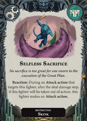 Selfless Sacrifice card image - hover