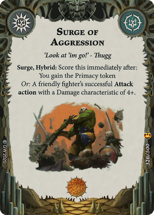 Surge of Aggression card image - hover
