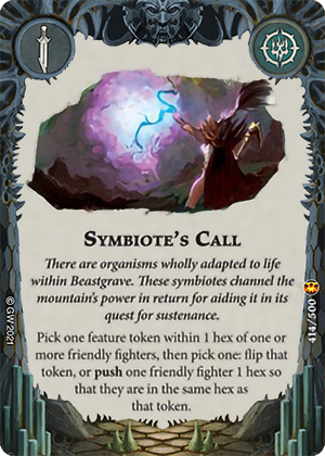 Symbiote's Call card image - hover