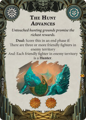 The Hunt Advances card image - hover