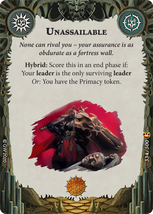 Unassailable card image - hover