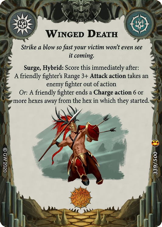 Winged Death card image - hover