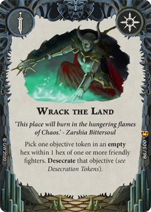 Wrack the land card image - hover